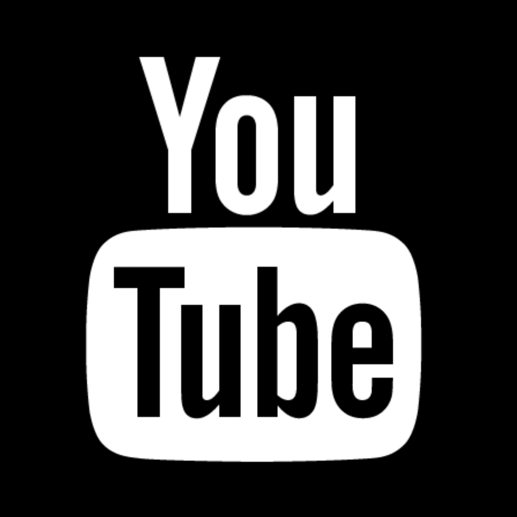 white youtube logo